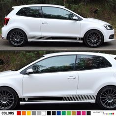 Stickers Decal for VW Volkswagen Polo Stripe body kit Door Handle Guard Sill gti Polo R, Polo Blue, Car Stickers, Car Decals, Volkswagen Polo, Jeep Wrangler Rubicon, Sticker Bomb, Sport Seats, Racing Stripes