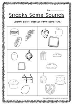 Color the two objects that begin with the same sound. This is part of Beginning Sounds packet. Kindergarten