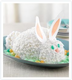 Easter bunny cake!!! More recipes on website!!