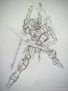 GUNDAM GUY: Awesome Gundam Sketches by VickiDrawing [Updated 8/25/15]