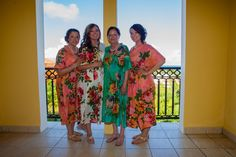 Real life Sample 1 - Bridesmaids Kaftans made From D13 Fabric Pattern