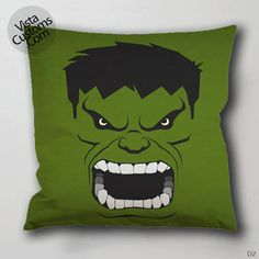 art hulk green Pillow Case, Chusion Cover ( 1 or 2 Side Print With Size 16, 18, 20, 26, 30, 36 inch )
