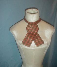 Man's Antique Shirt Cravat 1860 Plaid Silk   Clothing, Shoes & Accessories, Vintage, Men's Vintage Clothing   eBay!
