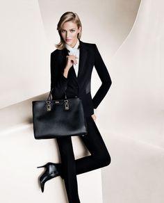 Les campagnes publicitaires de l'automne-hiver 2013-2014 | hugo boss working girl épuré Vogue