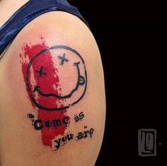 www.lucabraidotti.com #Tattoo #Nirvana #Music Tattoo #Avantgarde Tattoo