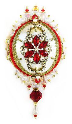 Dazzling Christmas Ornament - Ruby/Crystal/Pearl