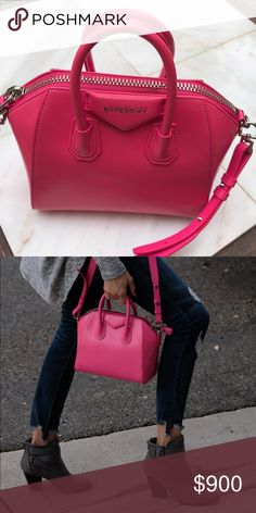 Relisted! Givenchy Antígona Mini Mini Hot Pink This beautiful bag sold a few weeks ago, but the buyer canceled the order hours after placing it! Great shape. AUTHENTIC bag! Givenchy Bags Mini Bags