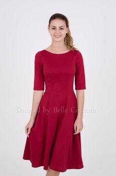 """puristisches+Jerseykleid+""""Luisa""""+Herbst/Winter+von+dressed+by++Belle+Couture+-+Jerseykleider+auf+DaWanda.com"""