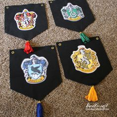 Hogwarts House Banner DIY! Harry Potter Week! You will need the perfect banner for the backdrop of your party! These would also be cool as decor in a bedroom!