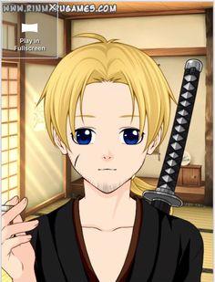 Hinode Taiyo, after he lost his wife... (Made using: Rinmaru Mega Avatar Creator)