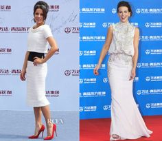 Kate Beckinsale In Oscar de la Renta & Elie Saab Couture - Qingdao Oriental Movie Metropolis Ceremony