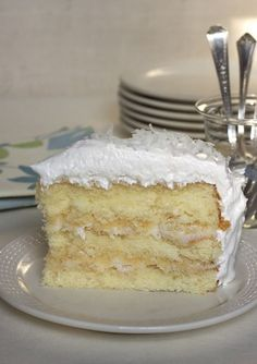 Coconut Sour Cream Cake