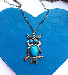 Blue Bellied Owl Necklace £4.50