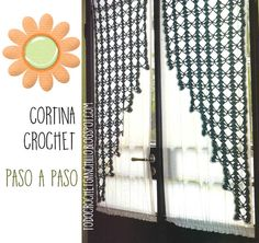 Patrones moldes y explicación de cortina a ganchillo Crochet Curtains, Crochet Kitchen, Ladder Decor, Knit Crochet, Projects To Try, Crochet Patterns, Coding, Knitting, Crafts
