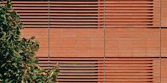 Ventilated terracotta cladding, Banca Popolare di Lodi