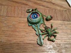 Haunted house key, altered spooky key, eyeball
