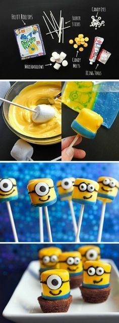 Despicable Me Minions Fruit Rollup Pops  ~  Cupcakepedia