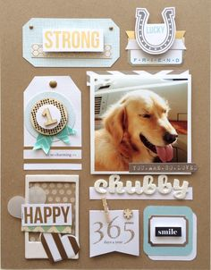 #papercraft #scrapbook #layout. Chubby by Lovepaper at @studio_calico