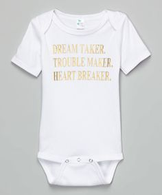 Loving this White 'Dream Maker' Bodysuit - Infant on #zulily! #zulilyfinds