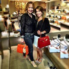 Coincidências de bolsas @Lennyecia e sandálias @vicenza_. A @mairasilva é uma amiga especial e comanda a @meia_sola com muito carinho!❤️❤️❤️#verão2016