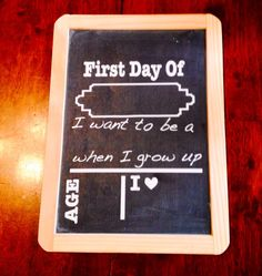 First day of school chalkboard - 7-10 inches - vinyl lettering photo prop on chalkboard custom on Etsy, $15.00