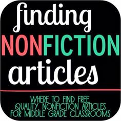 3 great and FREE places to find nonfiction articles online! Perfect for 5th - 7th grade :)