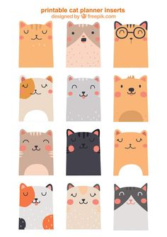 Free Printable Kawaii Cat and Dog Planner Inserts