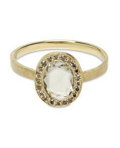 Green Sapphire Ring