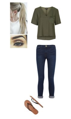 """""""Untitled #72"""" by mell-rosee ❤ liked on Polyvore featuring Frame Denim, Topshop and Abercrombie & Fitch"""