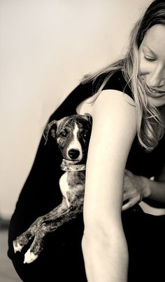 Happy times - my sis and Ruby the whippet :)