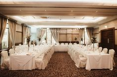 The Brehon Hotel has lots of options if you are planning a more intimate wedding celebration. Here we see a u-shaped setup for a wedding of 50 people Wedding Suits, Our Wedding, Wedding Venues, Private Dining Room, Civil Ceremony, Industrial Wedding, Intimate Weddings, Wedding Wishes, Celebrity Weddings