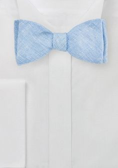 Fliege Herringbone-Look hellblau