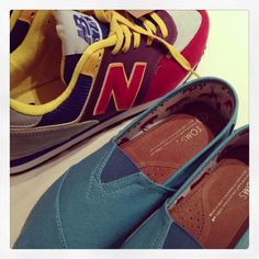 Toms and New Balance