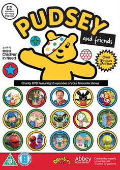 Pudsey and Friends DVD brings together all of your children's favourite CBeebies shows on DVD to help disadvantaged children and young people throughout. Amazon Dvd, Children In Need, Kids, Dvd Blu Ray, Best Tv Shows, Charity, How To Find Out, Friends, Amigos