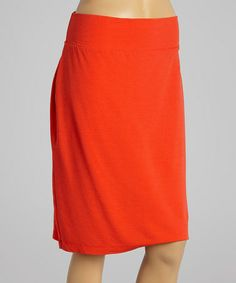 Look what I found on #zulily! Bright Coral Hepburn Skirt by Fresh Produce #zulilyfinds