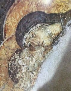 The Mother of God mourns her Son's death.