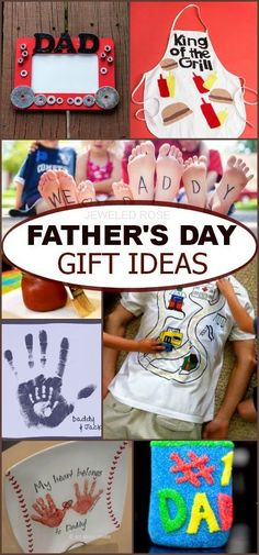 Father's Day Gift Ideas that kids can make themselves; these are such CUTE ideas!