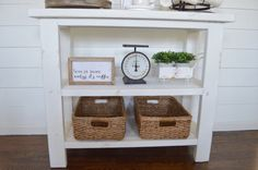 DIY Coffee bar table. | How to build you own farmhouse style coffee bar table.