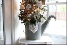 Christmas Watering Can