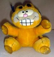 """Stick On Garfield. These were on nearly every car back in the day, right next to the """"Baby on Board"""" stick-ons."""