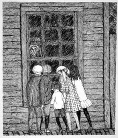 There was a house on our street growing up that felt like this. We were certain there was an old scary woman living inside watching us.