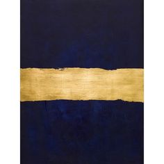 Art/wall Decor - Inspired by midcentury color-field paintings, this textural piece blends rich layers of navy paint with lustrous gold leaf. Diy Wall Art, Diy Art, Wall Art Decor, Navy Home Decor, Navy Paint, Gold Palette, Gold Walls, Navy Walls, Abstract Canvas Art