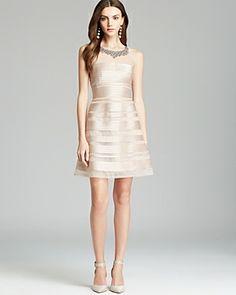 BCBGMAXAZRIA Sleeveless Embellished Neck Dress - Morgane on shopstyle.co.uk