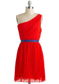 Ode to a Grecian Sojourn Dress, #ModCloth- I LOVE the turquoise belt on this! so fun!