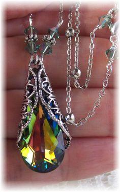 New Swarovski Vitrail Medium Crystal Antique by HisJewelsCreations, @HisJewelsCreations by Sheri Cleary #jewelry