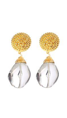 ben amun riviera lucite drop earrings.