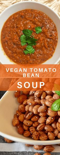 This vegan tomato bean soup is super delicious and filling, bound to power and fuel your body. Also perfect for meal-prepping.#vegan #plantbased #soup #healthy #beans