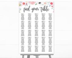 Resume Template For Kids Large Gold Calligraphy Seating Chart  Instantly Download Edit And .