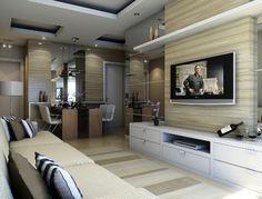decoração de sala com painel para tv