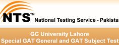 GC Lahore GAT General Subject Test 2015 Application Form Download